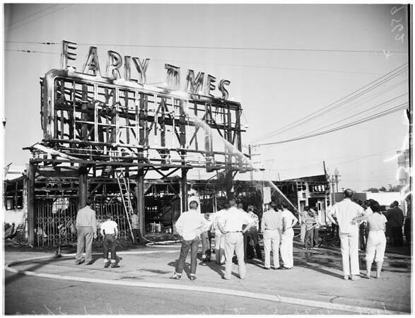 Garage fire (9098 Santa Monica Boulevard, West Hollywood), 1952