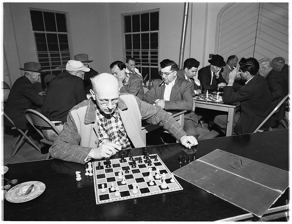 Chess Club, Monterey Park, 1952.