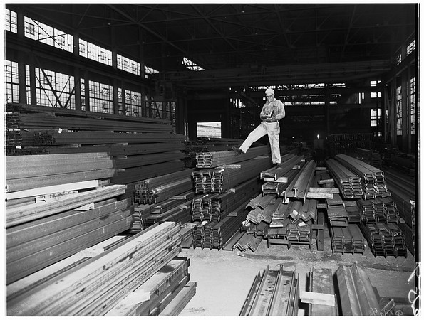 Kaiser Steel Mill in Fontana, 1952.