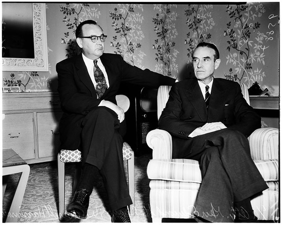 W. Averill Harriman at the Ambassador Hotel, 1952