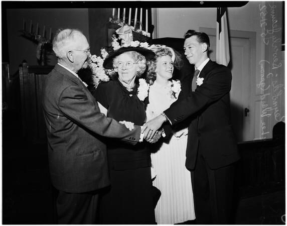Wedding on grandparents anniversary, 1952