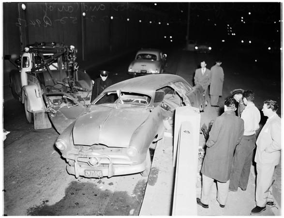 Auto accident, 1952