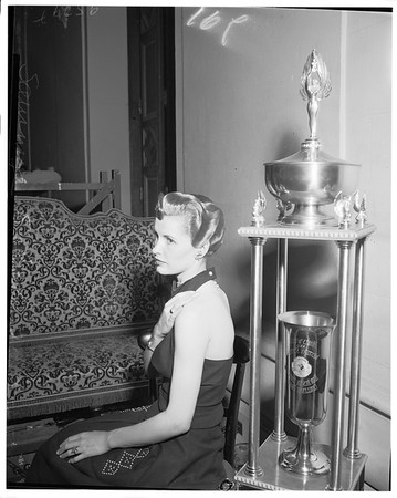 Hair style show at Biltmore Hotel, 1952.