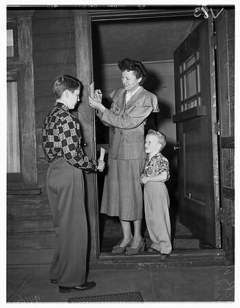 Inglewood pre-school age census, 1952
