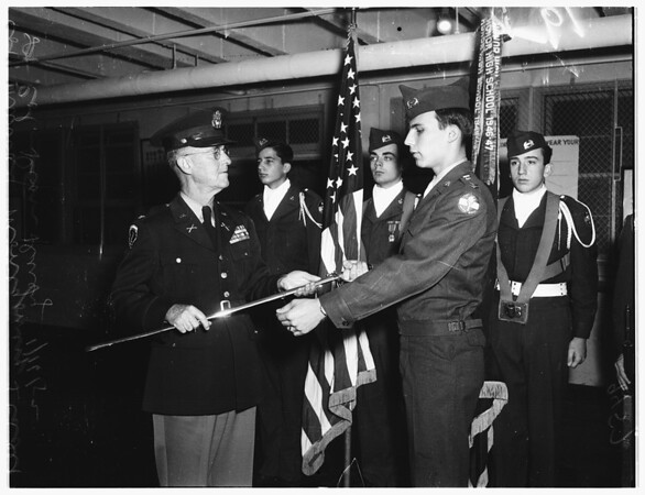 Hollywood High School Reserve Officers Training Corps awards, 1952