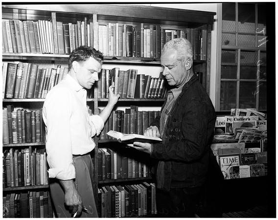 Walter Wanger arrives at Sheriff Honor farm, 1952