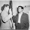 Dick Contino inducted into service, 1952