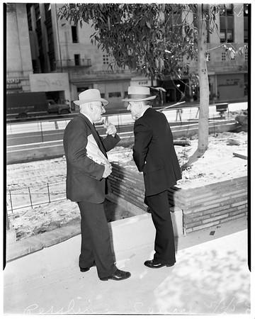 Boys back to Pershing Square, 1952