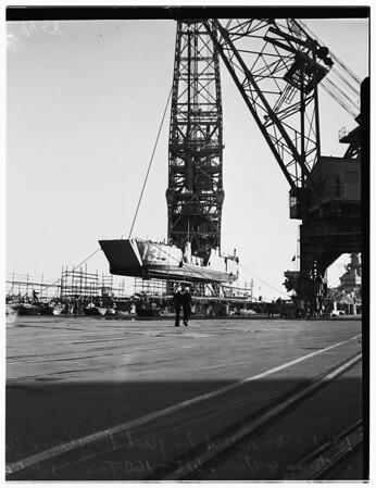 Giant Navy crane, 1952.