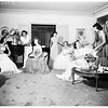 Planning for candlelight ball at home of Mrs. Taurola (not in picture) at 907 Whittier Drive, Beverly Hills, 1951