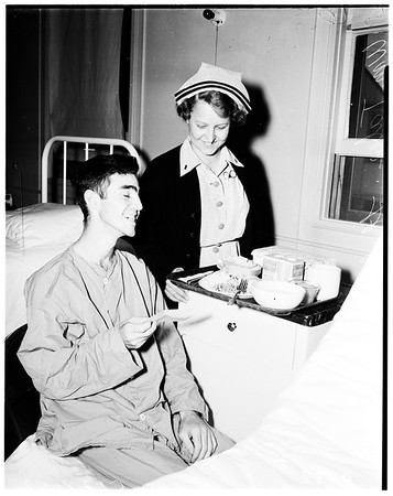 Examiner war wounded fund (Corona Navy Hospital), 1952