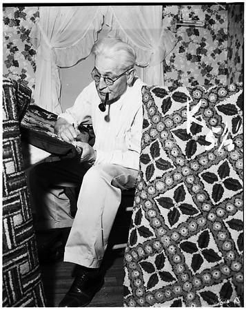 Rug weaving  hobby, 1952