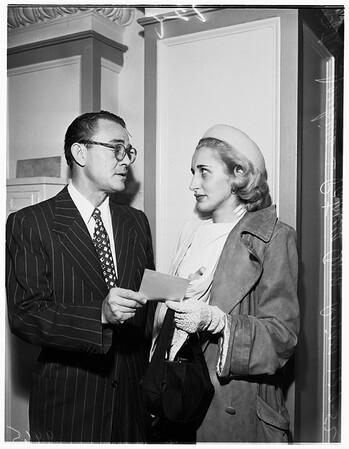 Divorce suit (Ryan), 1952