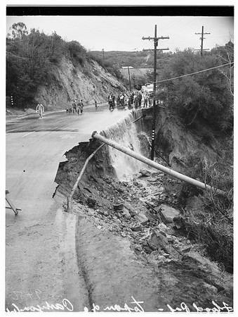 Storm in Topanga Canyon Boulevard, 1952