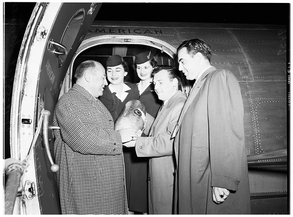 Saints and Sinners get watermelon for sick girl, 1952