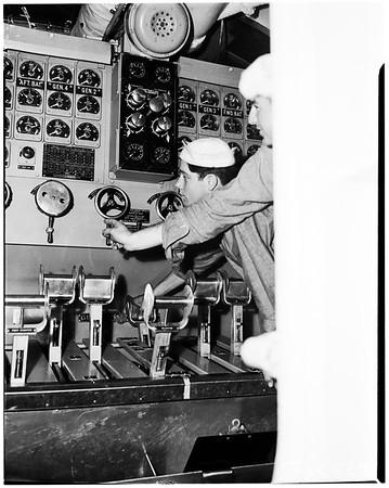 "Submarine USS ""Stickleback"", 1952"