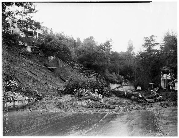 Fallen wall (Cummings Drive), 1952