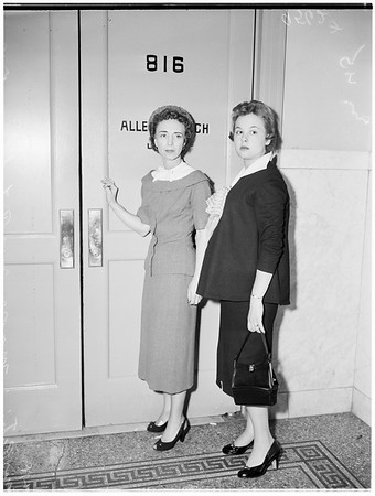 Retrial on murder charge, 1955