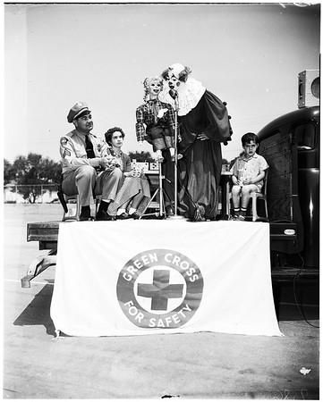 Traffic safety party at Wilson Elementary School, San Gabriel, 1952
