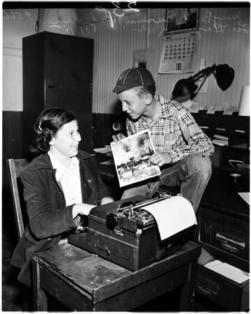 Junior City Editors in Burbank...Run own local paper, 1952