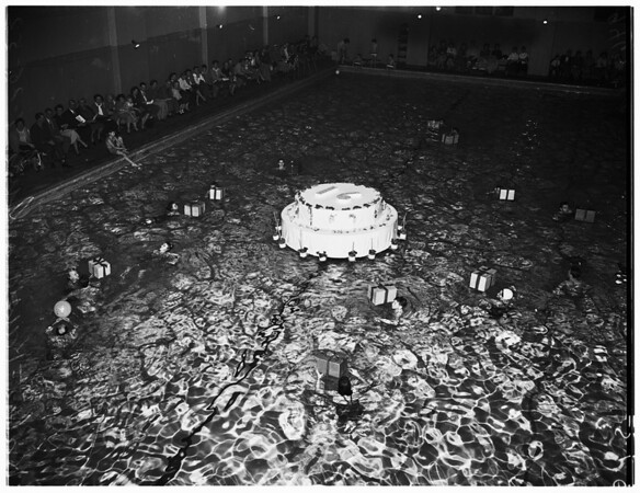 March of Dimes birthday party (in water), 1952