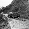 Malibu landslides, flood and rain, Pacific Coast Highway rain, 1952