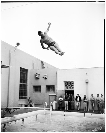 Whittier High School swimming meet, 1952