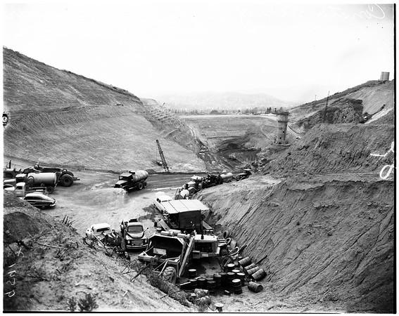 Construction of Eagle Rock Reservoir, 1952