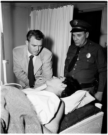 Man shot by burglar, 1952