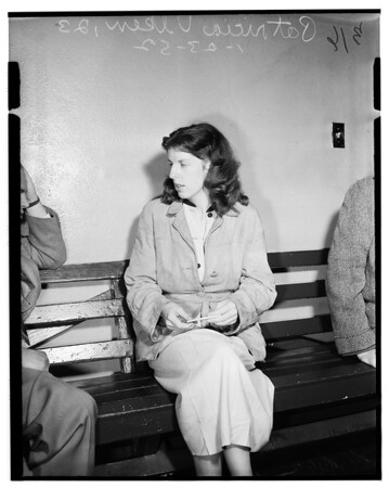 Bad check suspect, 1952