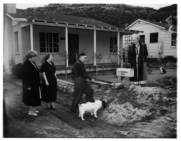 Tujunga flood complaint, 1952