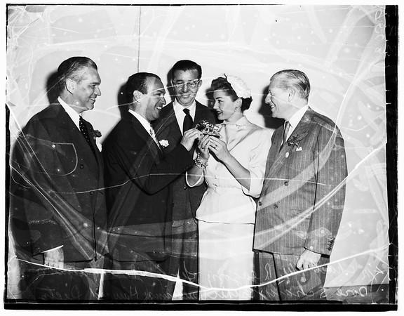 """Movie exhibitors meet (""""Seeing is Believing"""") (MGM), 1952."""