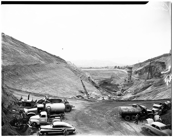 Construction of Eagle Rock Reservoir, 1952