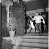 University of Southern California panty raid, and bonfire... burning of trojan horse, 1952