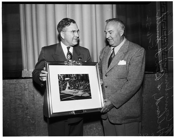 Rose Parade award, 1952