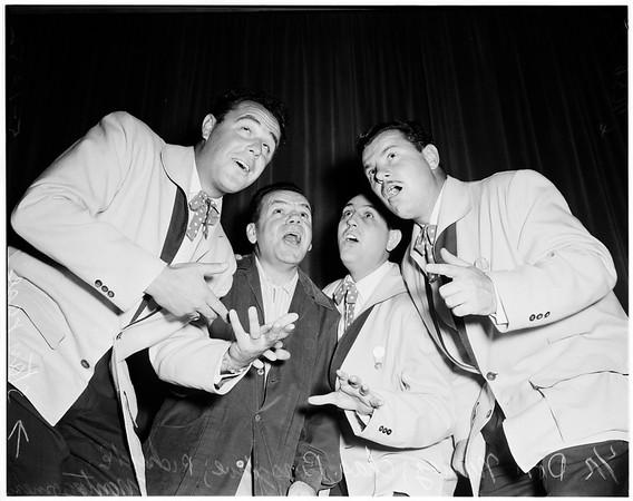 Barber shop quartet (Elks club, Long Beach), 1952
