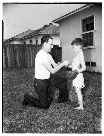 Tommy Roche divorce (battle over 8 kids), 1952