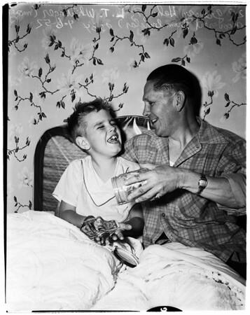 House burglar shot by police, 1952