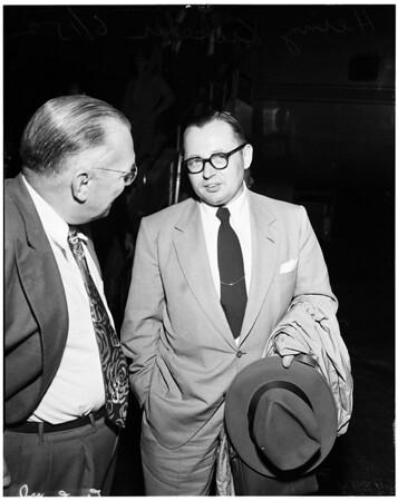Interview, International airport, 1952