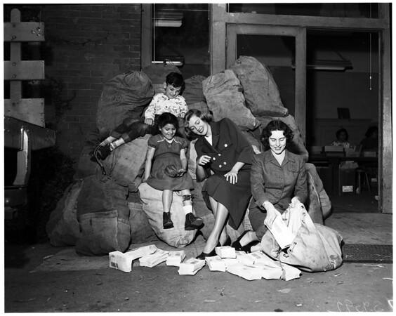Easter Seal drive for crippled children, 1952