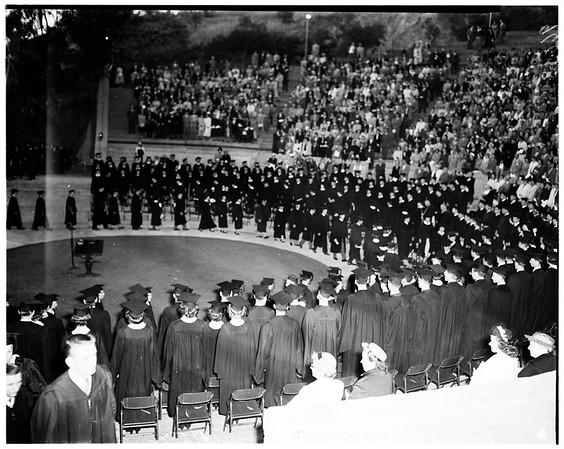 Occidental College graduation, 1952