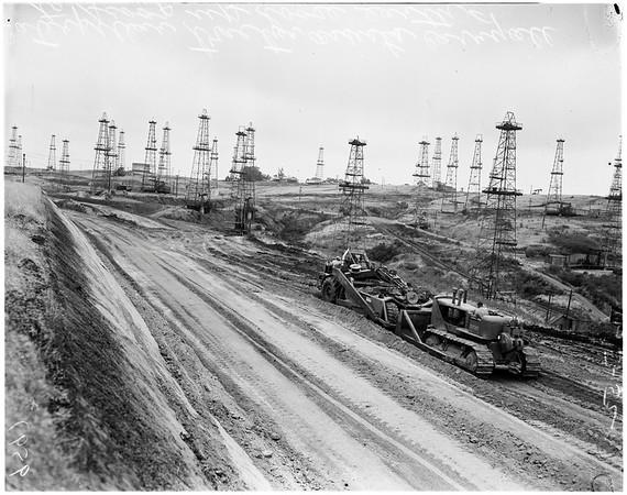La Cienega Freeway extension, 1952