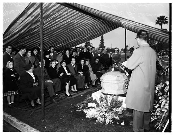 John Goodwin Funeral (Inglewood Park Cemetery) (Killed preventing store robbery), 1952