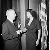 """Miss Los Angeles"" visits mayor, 1952"