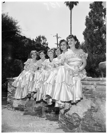 San Fernando fiesta queen contestants, 1952