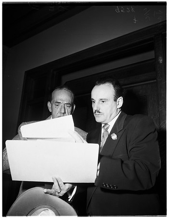 Civil service hearing, 1952