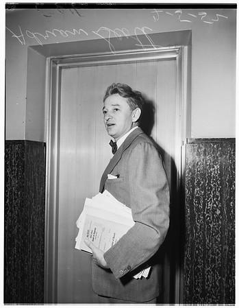 Communist -- wage suit, 1952