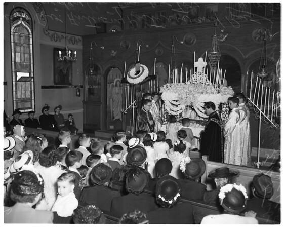 Greek Good Friday ...Helenic Orthodox Church of Annunciation, 1952