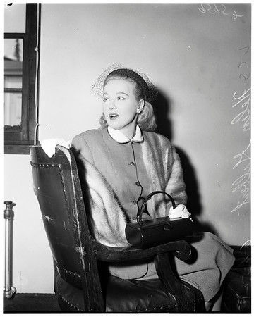 Alimony hearing, 1952