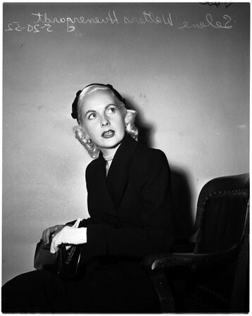 Huenergardt alimony, 1952